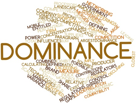 Abstract word cloud for Dominance with related tags and terms photo