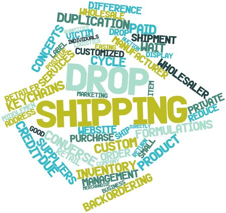 directly: Abstract word cloud for Drop shipping with related tags and terms