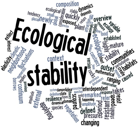 outset: Abstract word cloud for Ecological stability with related tags and terms