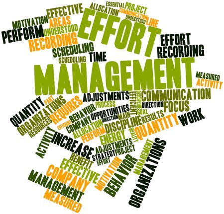 Abstract word cloud for Effort management with related tags and terms Stock Photo - 16049383