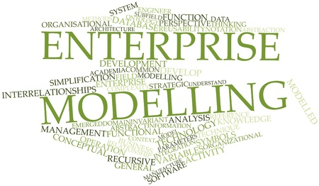 Abstract word cloud for Enterprise modelling with related tags and terms Stock Photo - 16048032