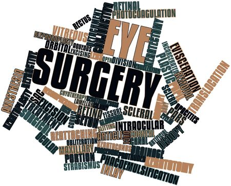 vitreous body: Abstract word cloud for Eye surgery with related tags and terms