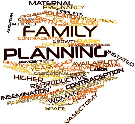 childbearing: Abstract word cloud for Family planning with related tags and terms