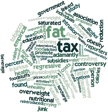 perverse: Abstract word cloud for Fat tax with related tags and terms