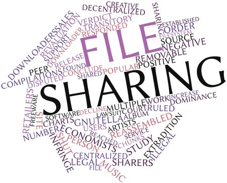 compilations: Abstract word cloud for File sharing with related tags and terms