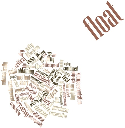 Abstract word cloud for Float with related tags and terms Stock Photo - 16048145