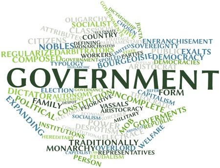 constitucion: Nube palabra abstracta para el Gobierno con las etiquetas y términos relacionados