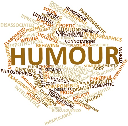 behaving: Abstract word cloud for Humour with related tags and terms