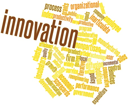 Abstract word cloud for Innovation with related tags and terms Stock Photo - 16049337