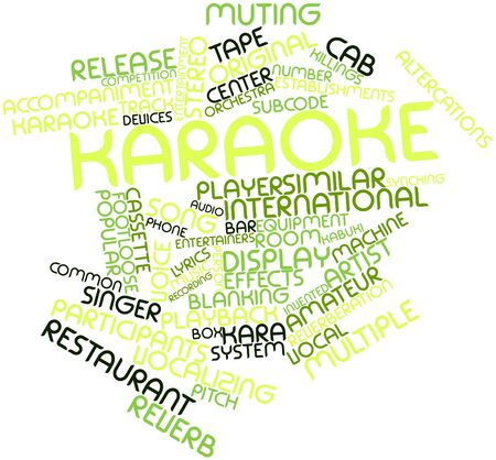 blanking: Abstract word cloud for Karaoke with related tags and terms