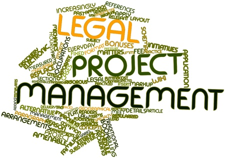 initiatives: Abstract word cloud for Legal project management with related tags and terms