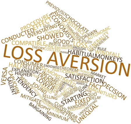 mitigate: Abstract word cloud for Loss aversion with related tags and terms
