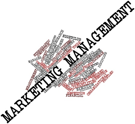 Abstract word cloud for Marketing management with related tags and terms Stock Photo - 16048657