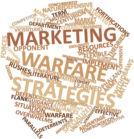 guerrilla: Abstract word cloud for Marketing warfare strategies with related tags and terms