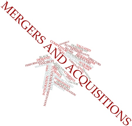 mergers: Abstract word cloud for Mergers and acquisitions with related tags and terms
