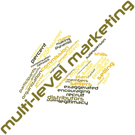 allegations: Abstract word cloud for Multi-level marketing with related tags and terms