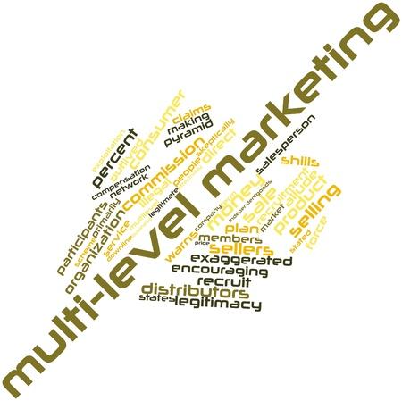 multilevel: Word cloud astratto per Multi-level marketing con tag correlati e termini Archivio Fotografico