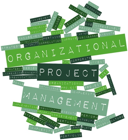 increasingly: Abstract word cloud for Organizational project management with related tags and terms