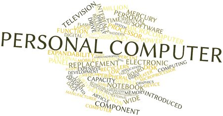 Abstract word cloud for Personal computer with related tags and terms Stock Photo - 16047993