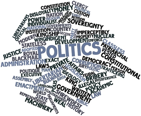 Abstract word cloud for Politics with related tags and terms photo