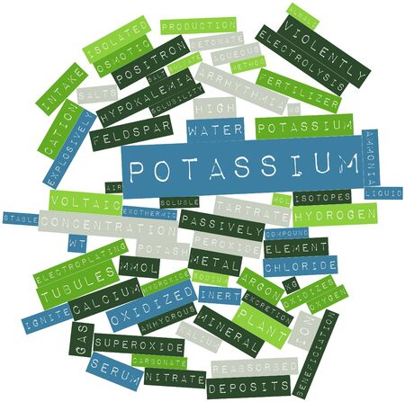 argon: Abstract word cloud for Potassium with related tags and terms