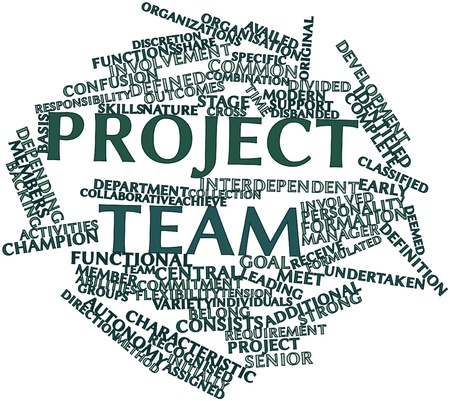 Abstract word cloud for Project team with related tags and terms Stock Photo - 16049573