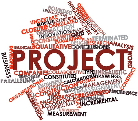 Abstract word cloud for Project with related tags and terms Stock Photo - 16049511