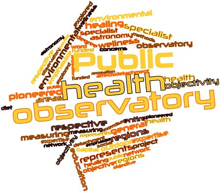 Abstract word cloud for Public health observatory with related tags and terms Stock Photo - 16048648