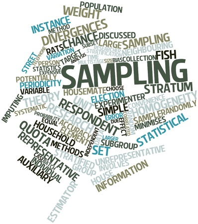 Abstract word cloud for Sampling with related tags and terms Stock Photo - 16048722