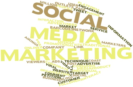 Abstract word cloud for Social media marketing with related tags and terms Stock Photo - 16047990