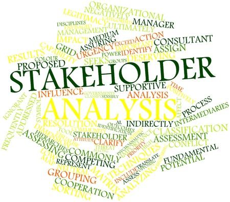 addressed: Word cloud astratto per l'analisi degli stakeholder con tag correlati e termini Archivio Fotografico