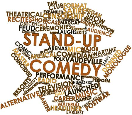 wartime: Abstract word cloud for Stand-up comedy with related tags and terms