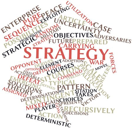 Abstract word cloud for Strategy with related tags and terms Stock Photo - 16048731