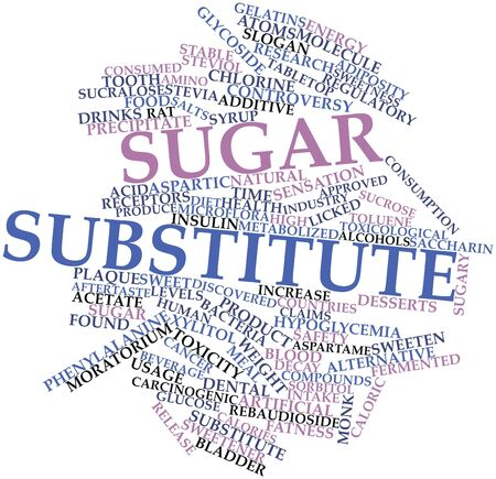 adiposity: Abstract word cloud for Sugar substitute with related tags and terms