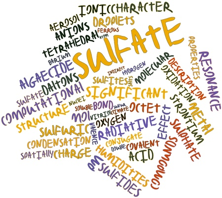 strontium: Abstract word cloud for Sulfate with related tags and terms