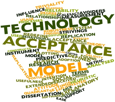 critique: Abstract word cloud for Technology acceptance model with related tags and terms