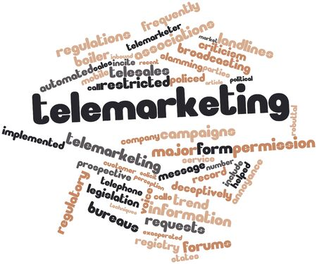 landlines: Abstract word cloud for Telemarketing with related tags and terms