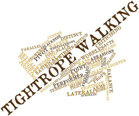 rope walker: Abstract word cloud for Tightrope walking with related tags and terms