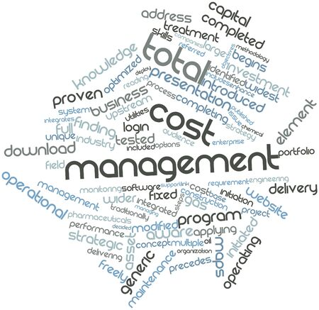 Abstract word cloud for Total cost management with related tags and terms Stock Photo - 16048285