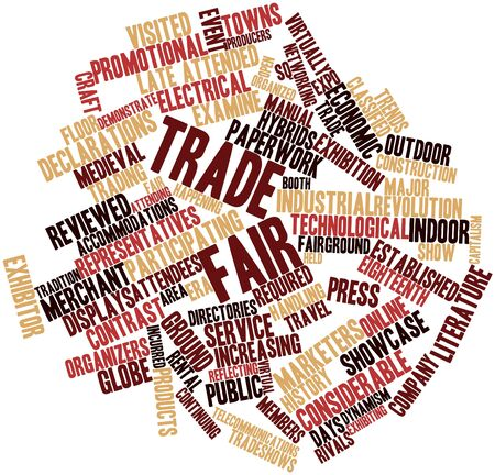 incurred: Abstract word cloud for Trade fair with related tags and terms Stock Photo