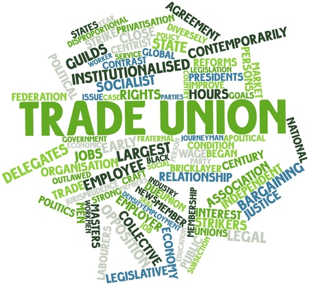 Abstract word cloud for Trade union with related tags and terms photo