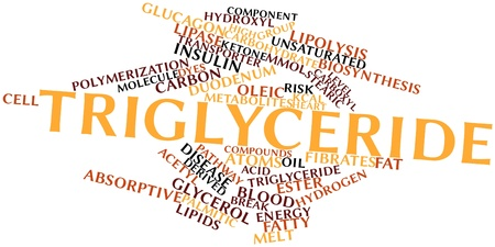 synthesize: Abstract word cloud for Triglyceride with related tags and terms