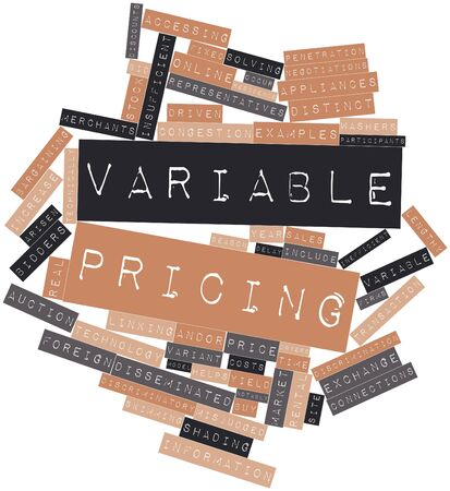 Abstract word cloud for Variable pricing with related tags and terms Stock Photo - 16048040
