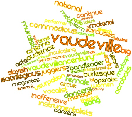 knell: Abstract word cloud for Vaudeville with related tags and terms Stock Photo