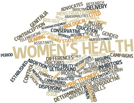 Abstract word cloud for Women's health with related tags and terms Stock Photo - 16048793