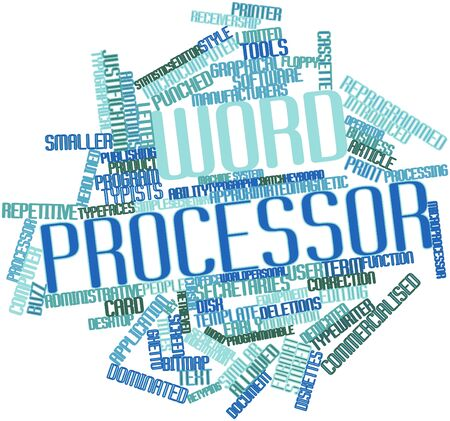 Abstract word cloud for Word processor with related tags and terms Stock Photo - 16049520