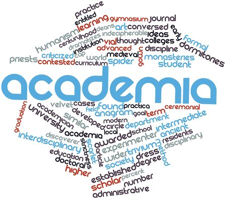 encyclopedic: Abstract word cloud for Academia with related tags and terms