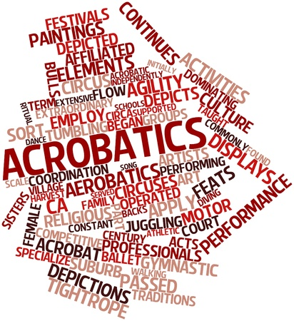 Abstract word cloud for Acrobatics with related tags and terms Stock Photo - 16084248