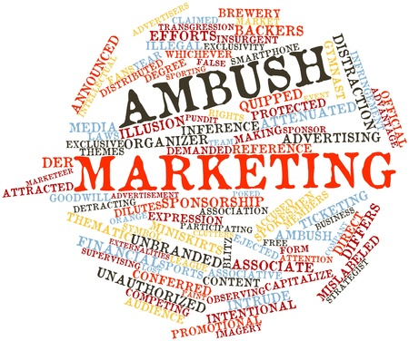 Abstract word cloud for Ambush marketing with related tags and terms Stock Photo - 16084299