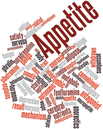 autonomic: Word cloud astratto per appetito con tag correlati e termini